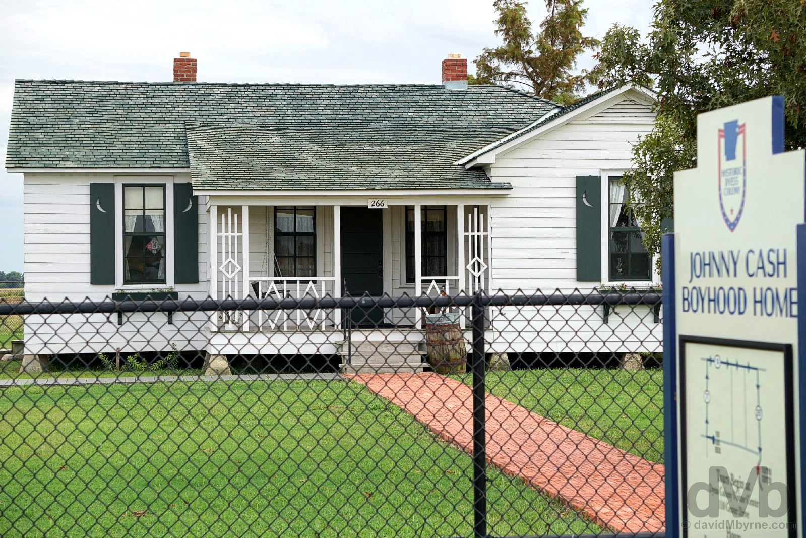 Johnny Cash Boyhood Home, Dyess, Arkansas, USA. September 18, 2016.