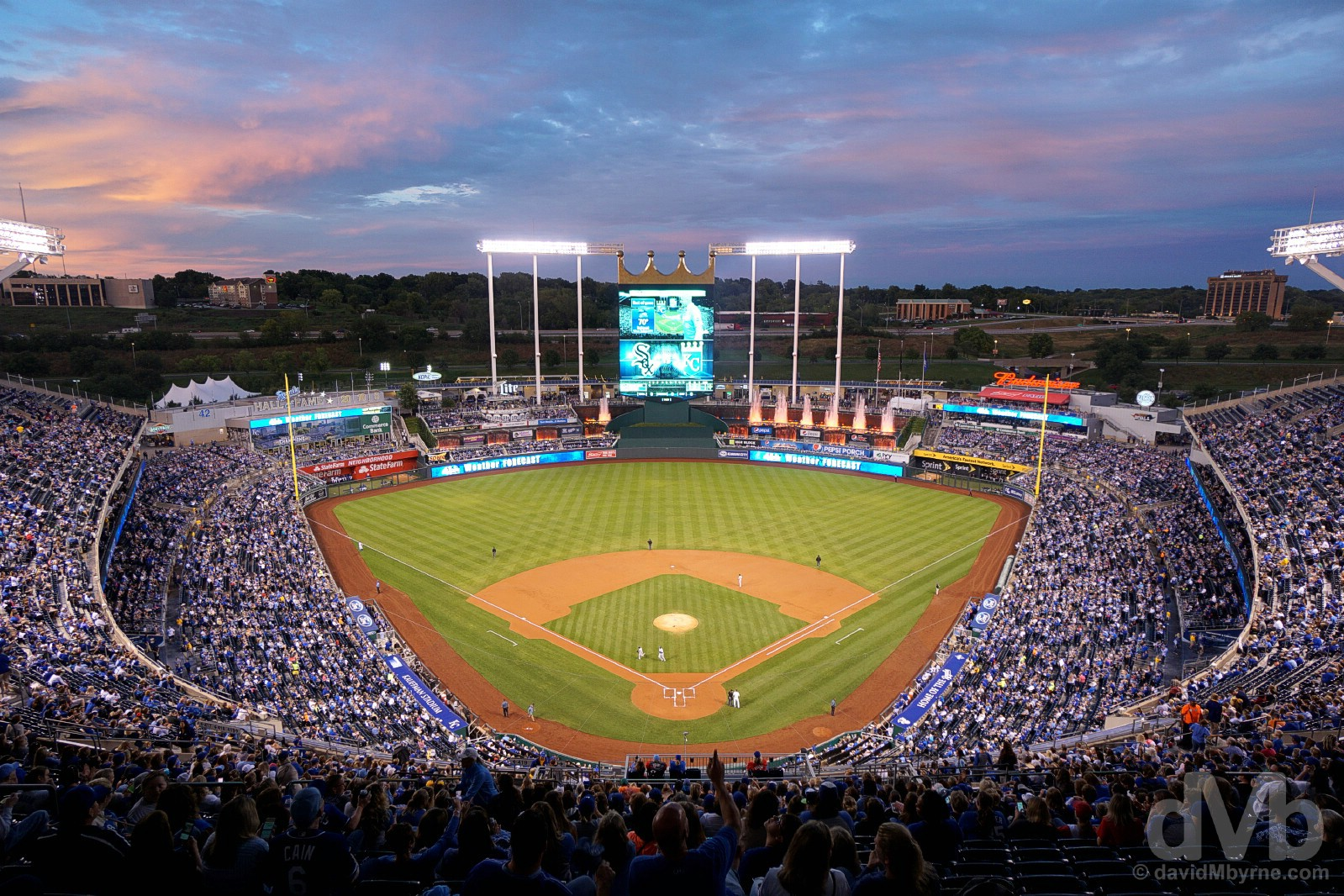 Royals Vs. White Sox, Kauffman Stadium, Kansas City, Missouri, USA. September 16, 2016.