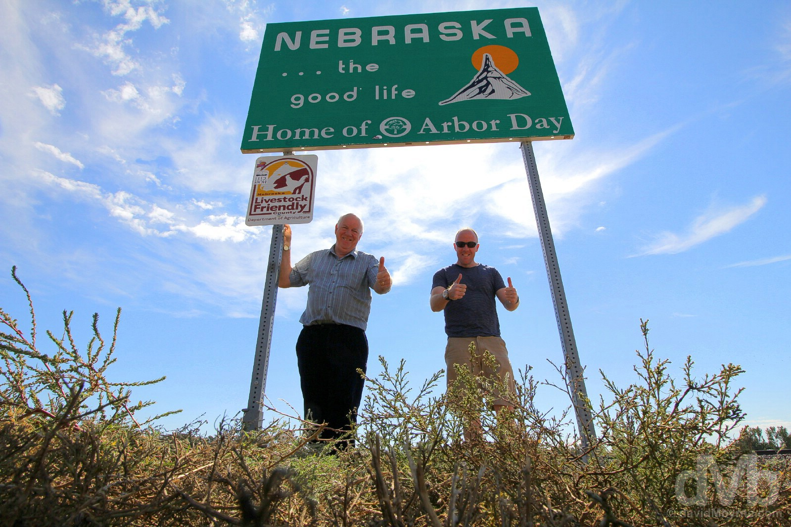 On the Wyoming/Nebraska state line of US Highway 26 in Scotts Bluff County, Nebraska, USA. September 15, 2016.