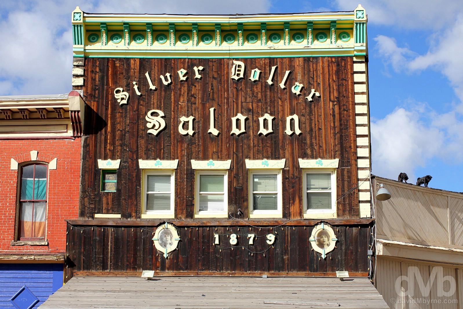 The Silver Dollar Saloon, Harrison Avenue, Leadville, central Colorado, USA. September 13, 2016.