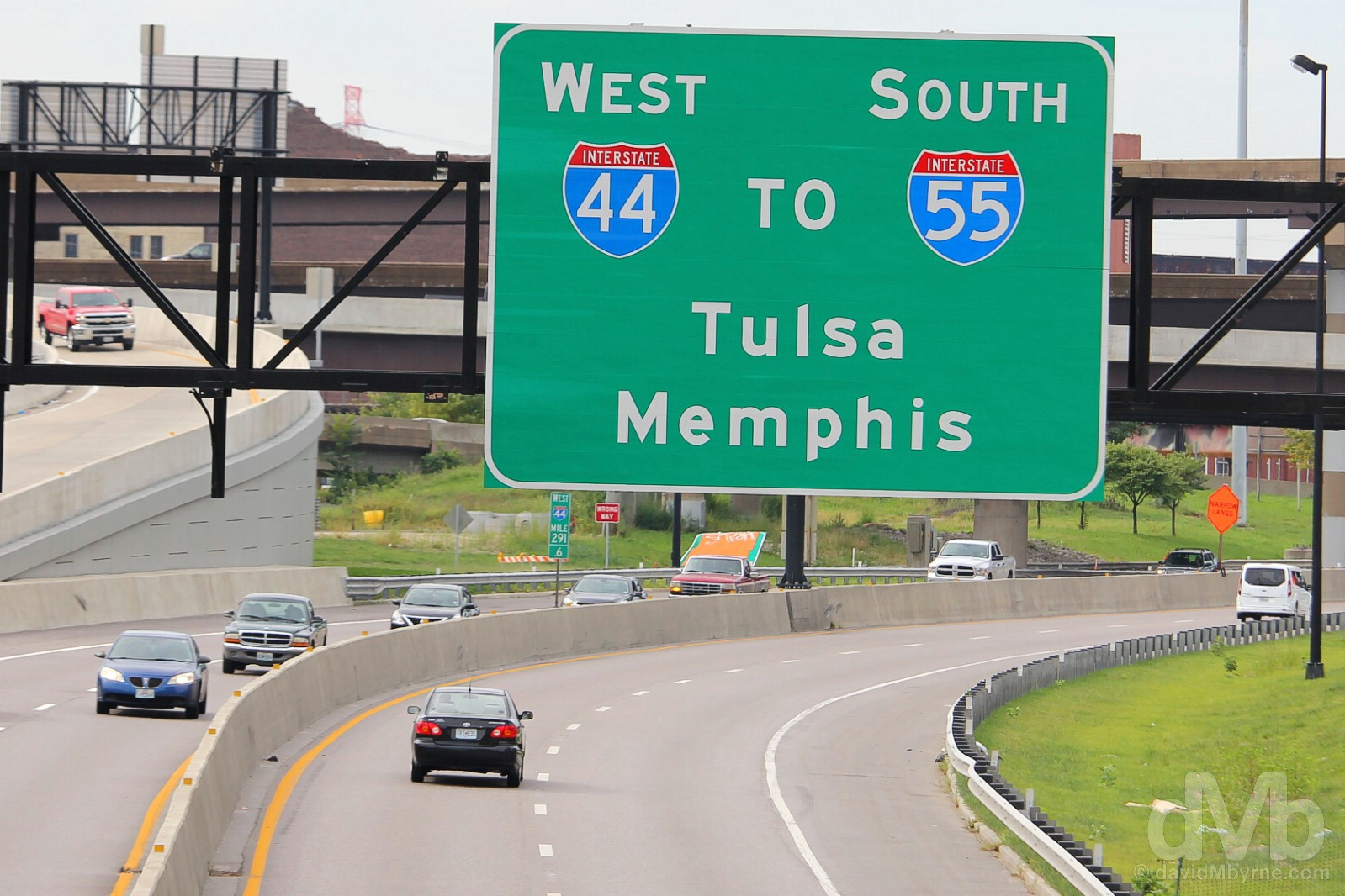 Interstate 55 south from St. Louis, Missouri, to Memphis, Tennessee. September 18, 2016.