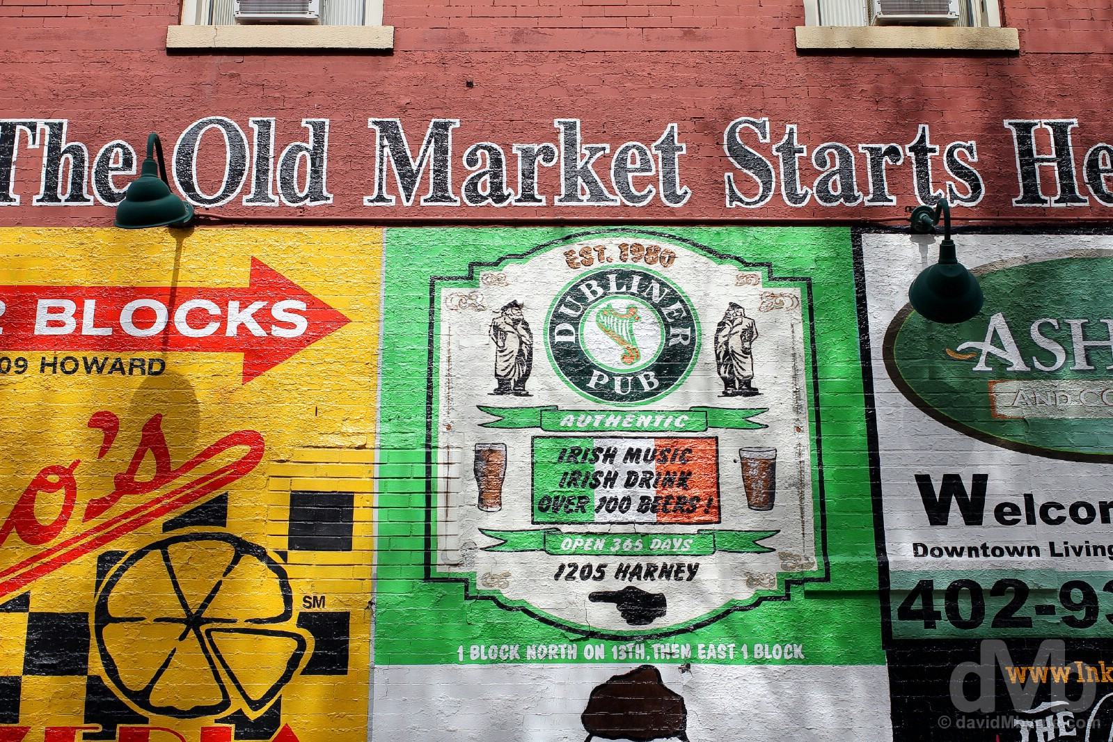 The Old Market, Howard Street, Omaha, Nebraska, USA. September 16, 2016.