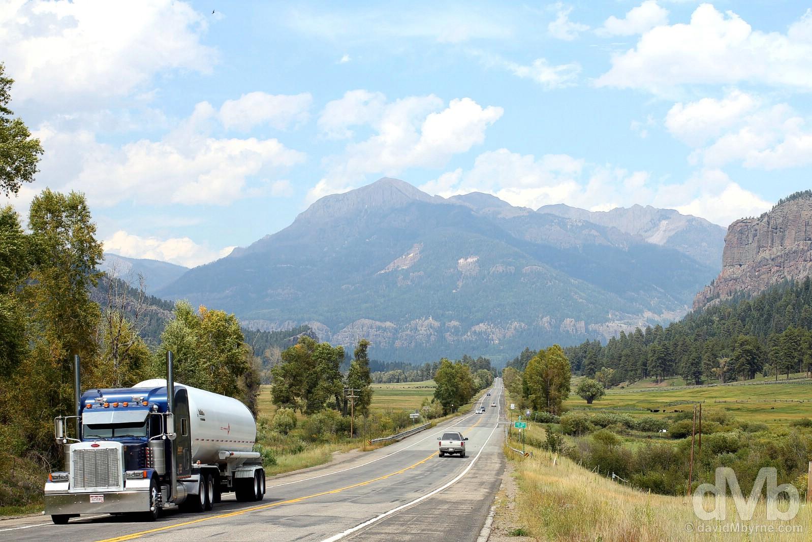 US Highway 160, Colorado, USA. September 12, 2016.