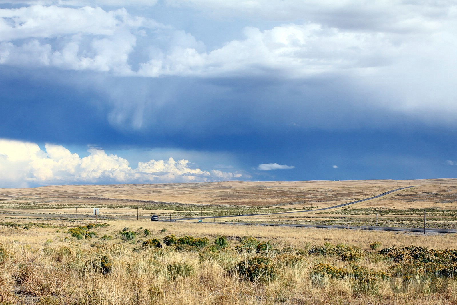 By the side of US Route 30 in Albany County, Wyoming, USA. September 14, 2016.