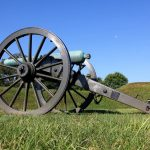 A cannon on display in Vicksburg National Military Park, Vicksburg, Mississippi, USA. September 20, 2016.