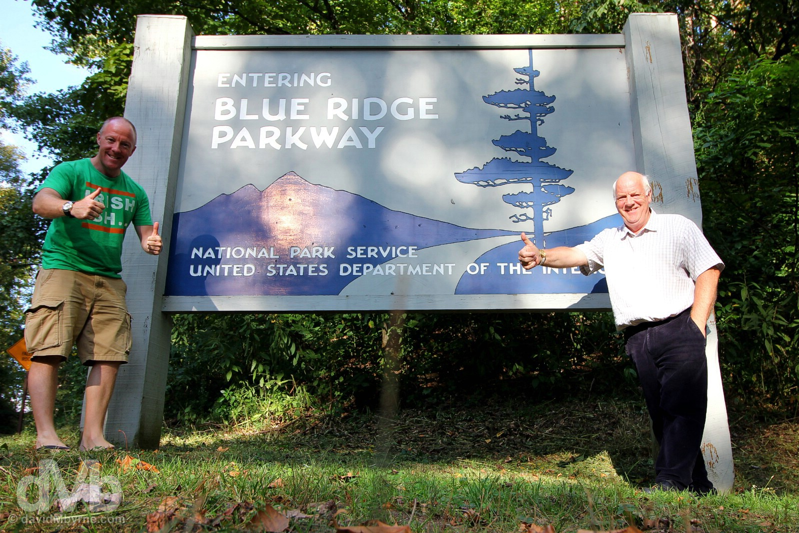 At the southern entry to the All-American Blue Ridge Parkway, milepost 469, off US 441 outside Cherokee, North Carolina, USA. September 22, 2016.
