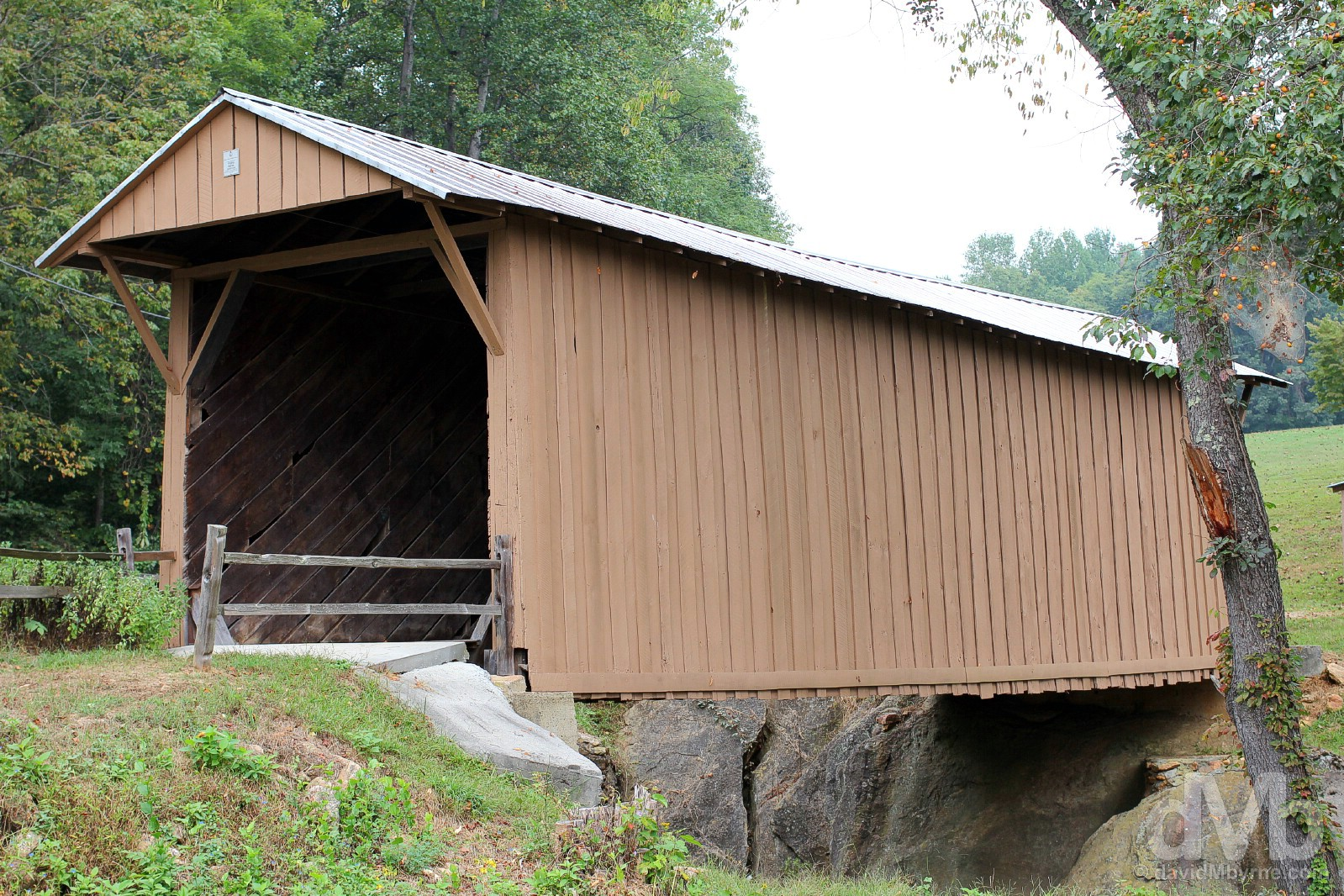 Jacks Creek Covered Bridge, Patrick County, Virginia, USA. September 25, 2016.