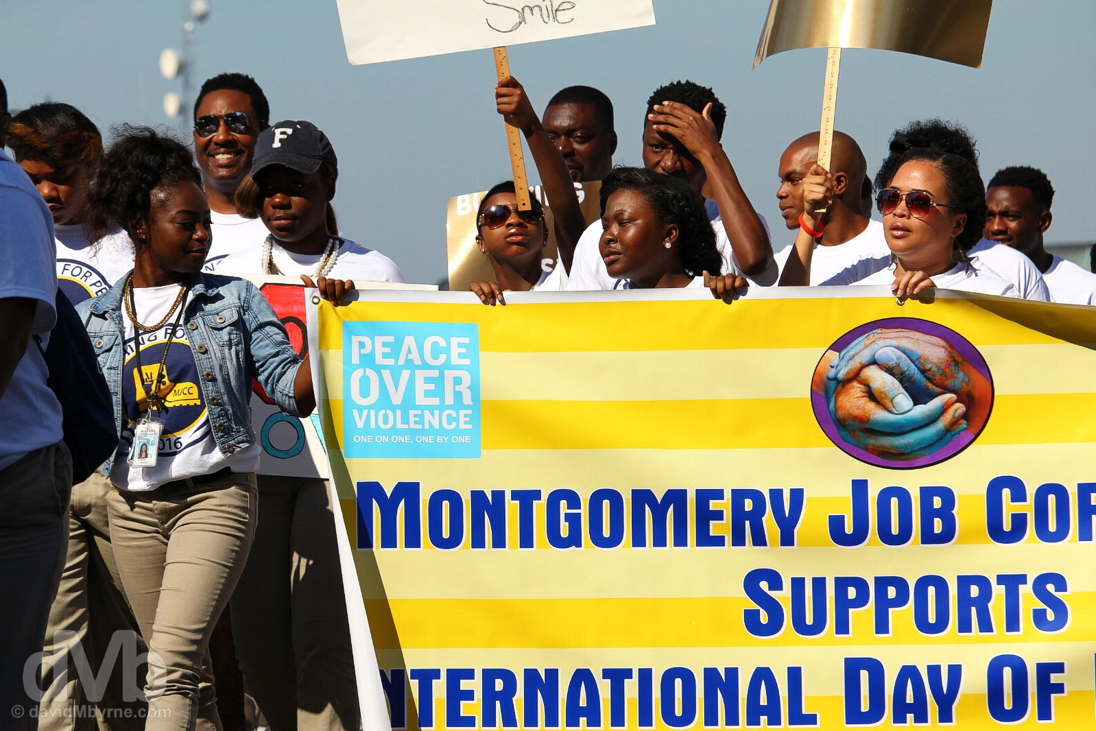 International Day of Peace 2016 March on Dexter Avenue, Montgomery, Alabama, USA. September 21, 2016.