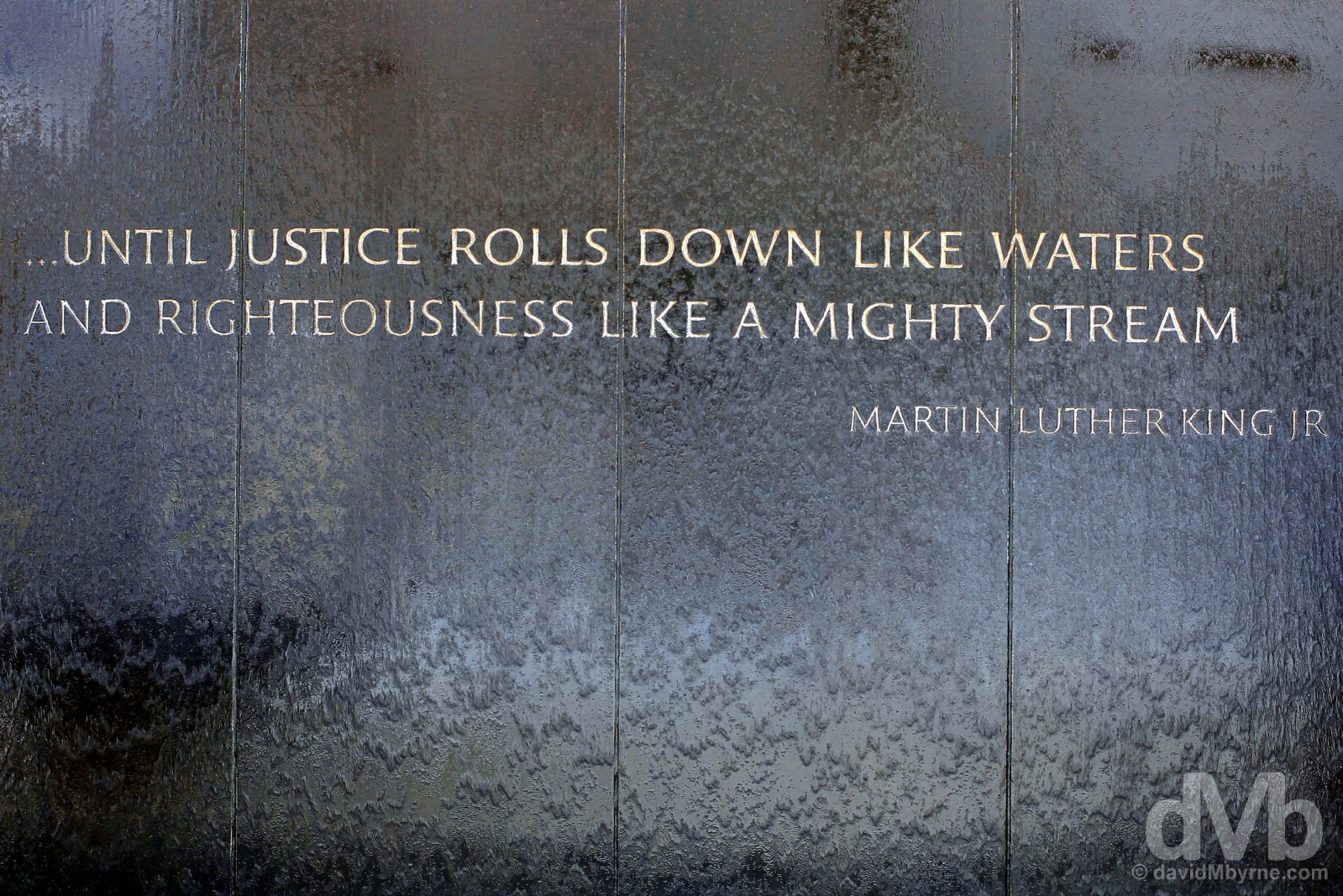 A Martin Luther King Jr. quote outside the Civil Rights Memorial Center on Washington Avenue in Montgomery, Alabama, USA. September 21, 2016.