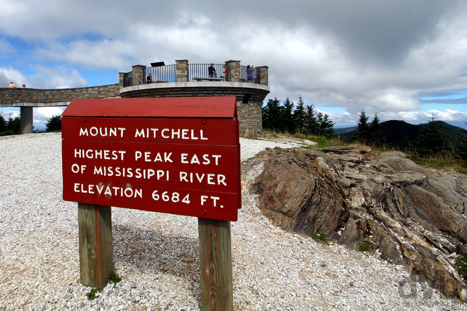 Mount Mitchel of Mount Mitchell State Park, Yancey County, North Carolina, USA. September 23, 2016.