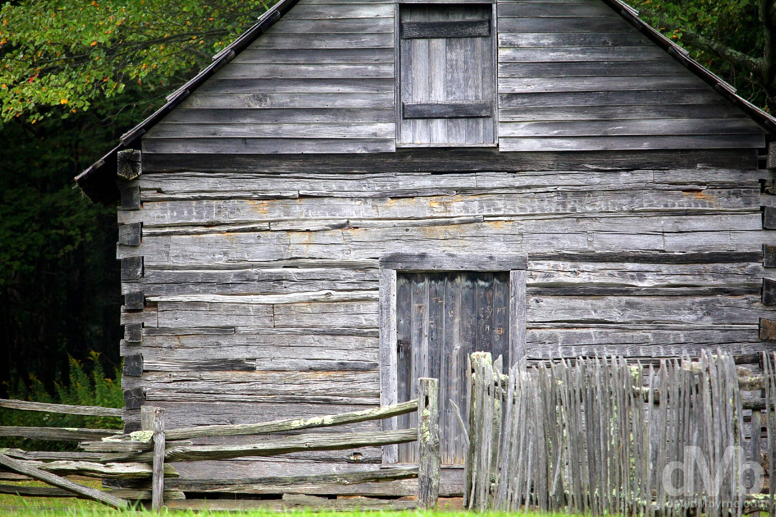 The Puckett Cabin of the All-American Blue Ridge Parkway, Virginia, USA. September 25, 2016.