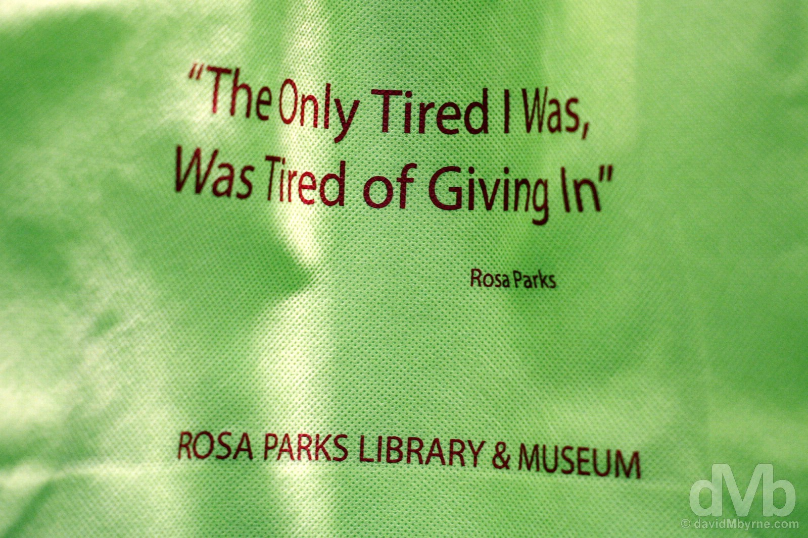 In the gift shop of the Rosa Parks Library & Museum in Montgomery, Alabama, USA. September 21, 2016.