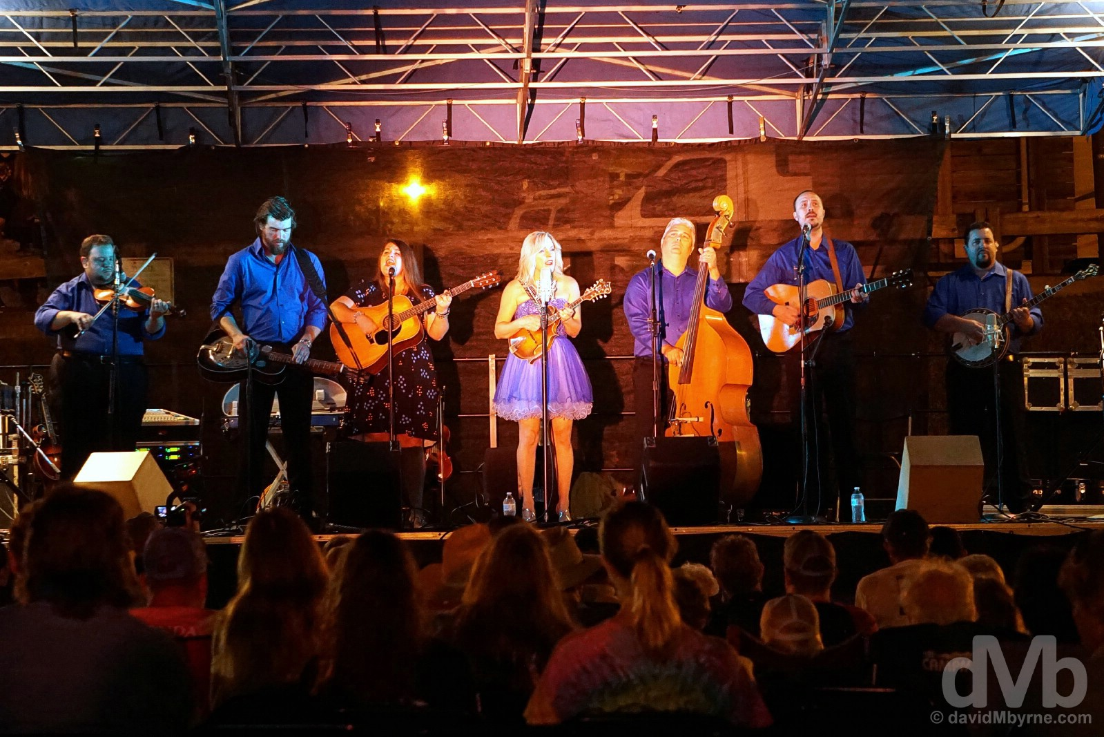 Rhonda Vincent & The Rage headlining Rex Fest in Galax, Virginia, USA. September 24, 2016.