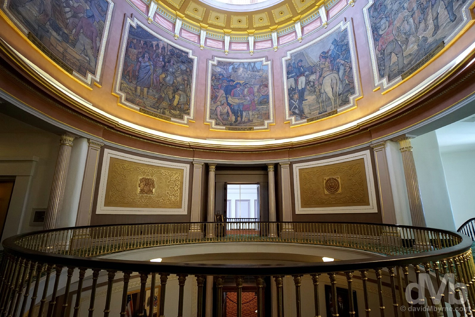The interior of the Alabama State Capitol Building in Montgomery, Alabama, USA. September 21, 2016.