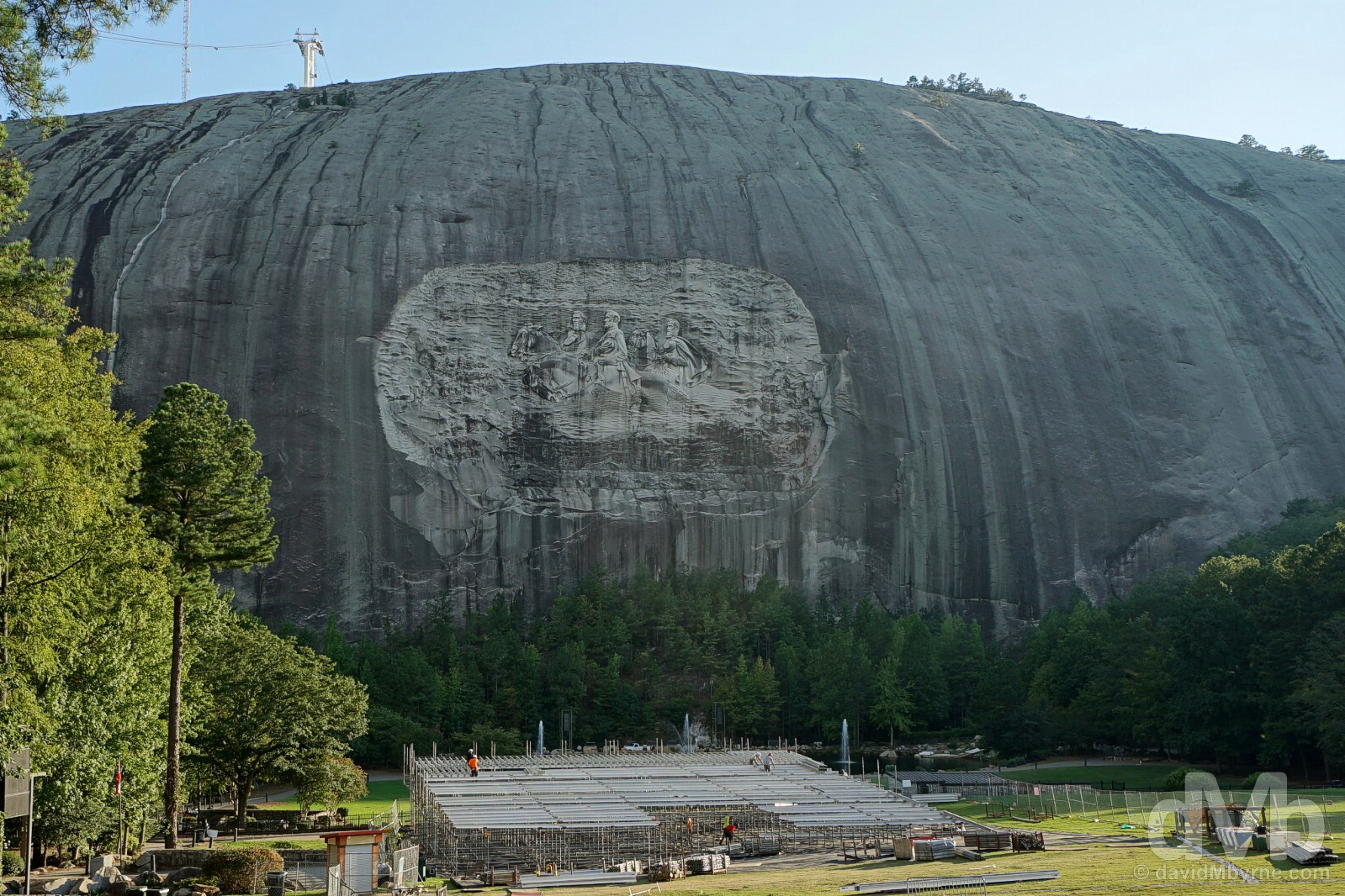 Stone Mountain of Stone Mountain Park, Georgia, USA. September 21, 2016.