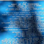 A Union line plaque in Vicksburg National Military Park, Vicksburg, Mississippi, USA. September 20, 2016.