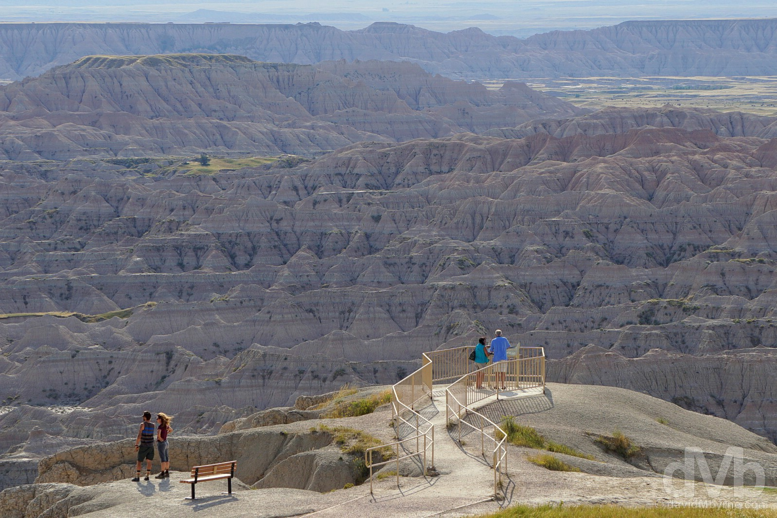 Overlooking the Badlands in Bandlands National Park, South Dakota, USA. September 1, 2016.