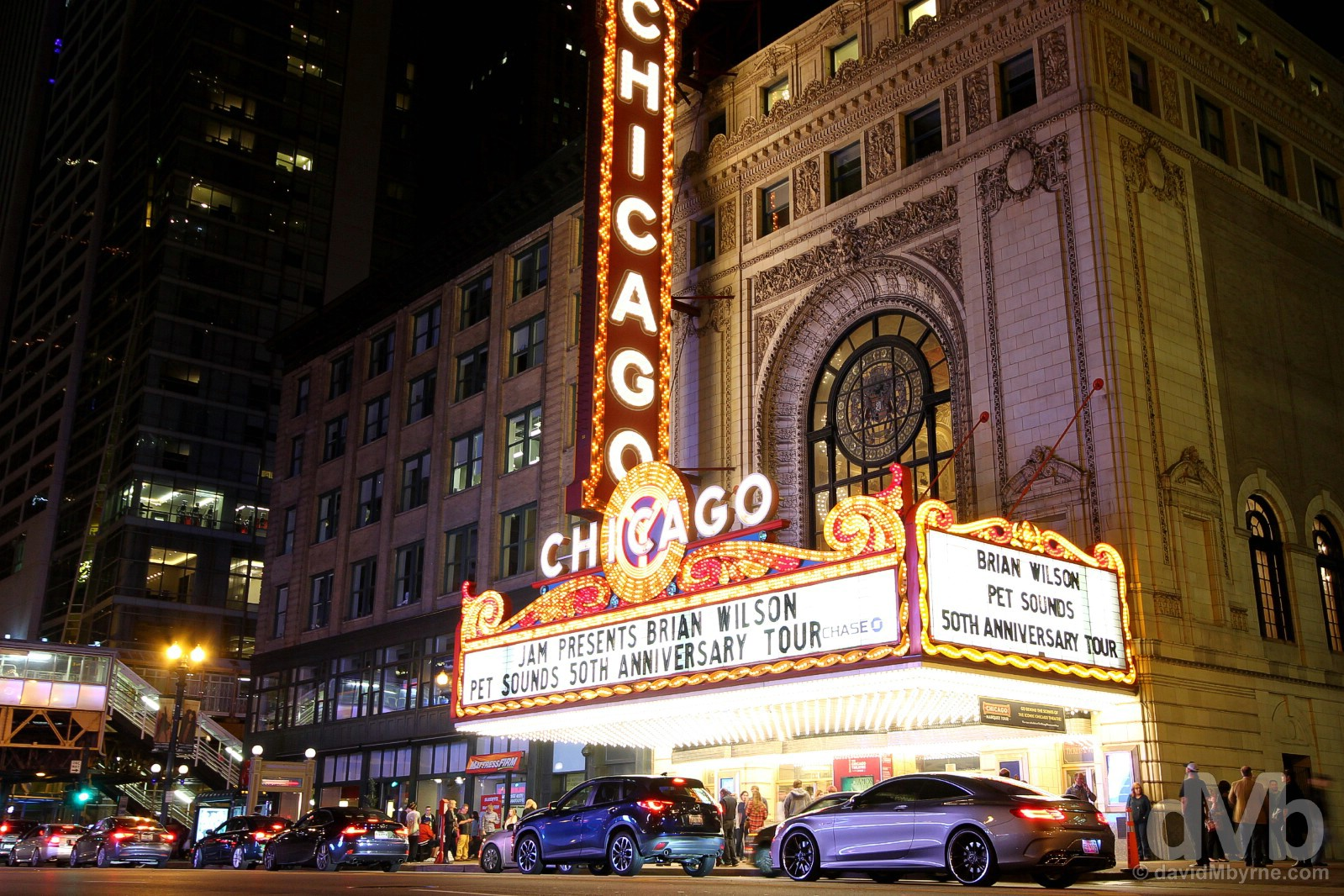 The Chicago Theatre, State Street, Chicago, Illinois, USA. October 1, 2016.