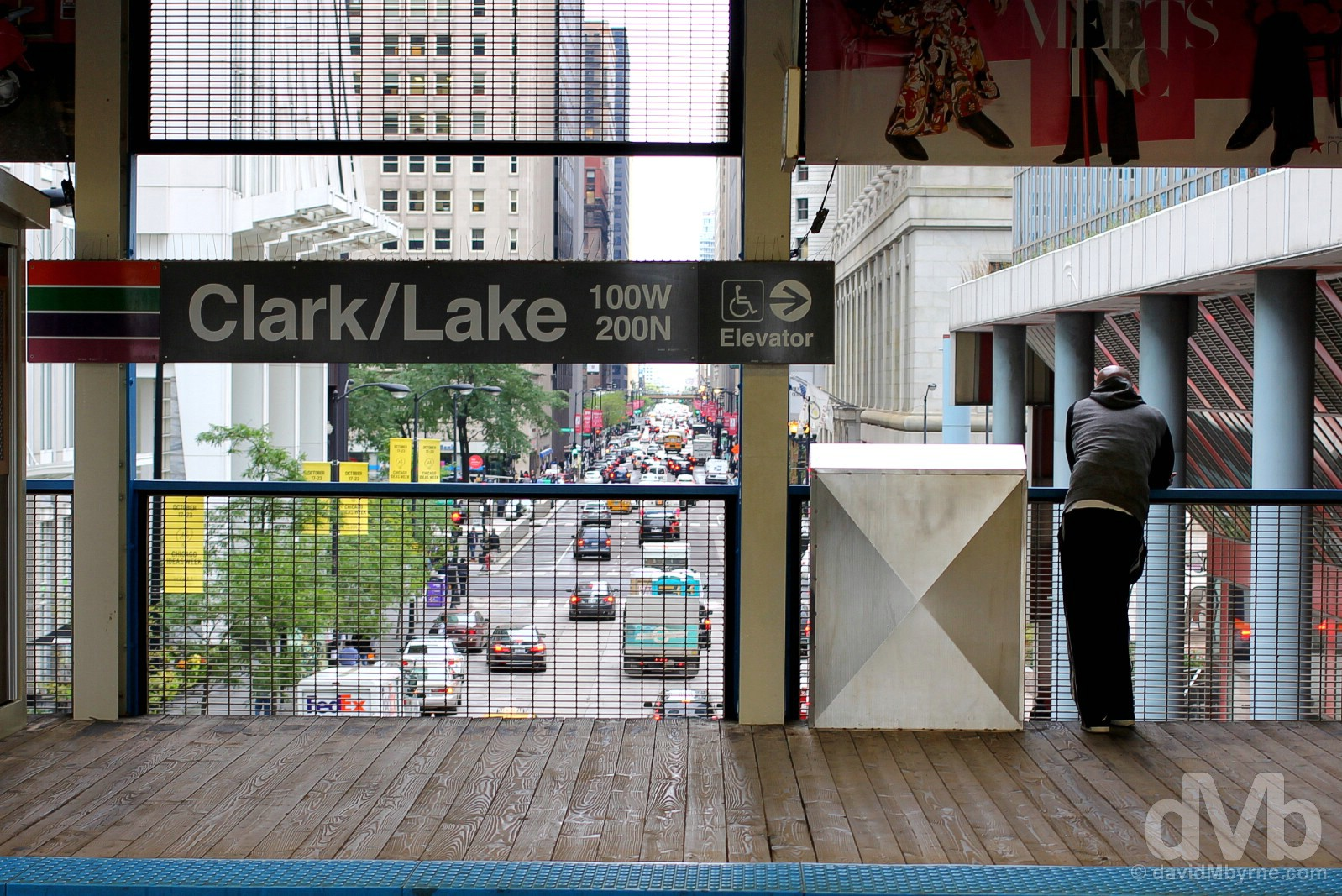 Clark/Lake CTA Station, Downtown, Chicago, Illinois, USA. September 30, 2016.