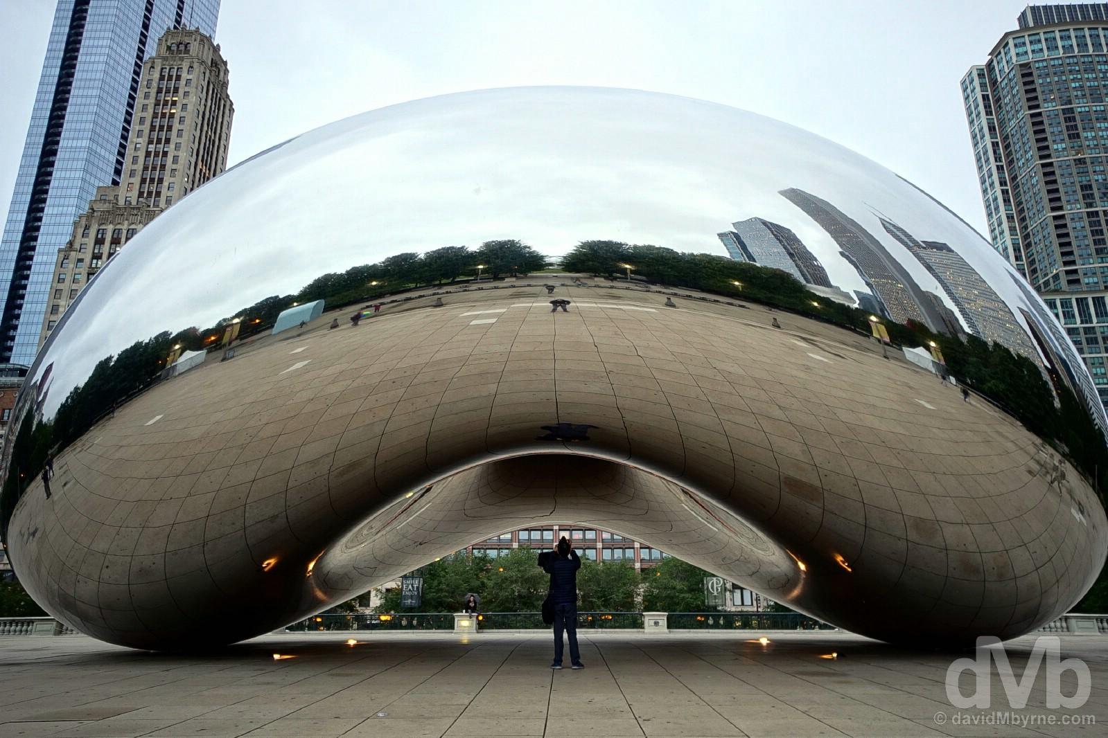 The Cloud Gate, a.k.a. The Bean, Millennium Park, Chicago, Illinois, USA. September 30, 2016.