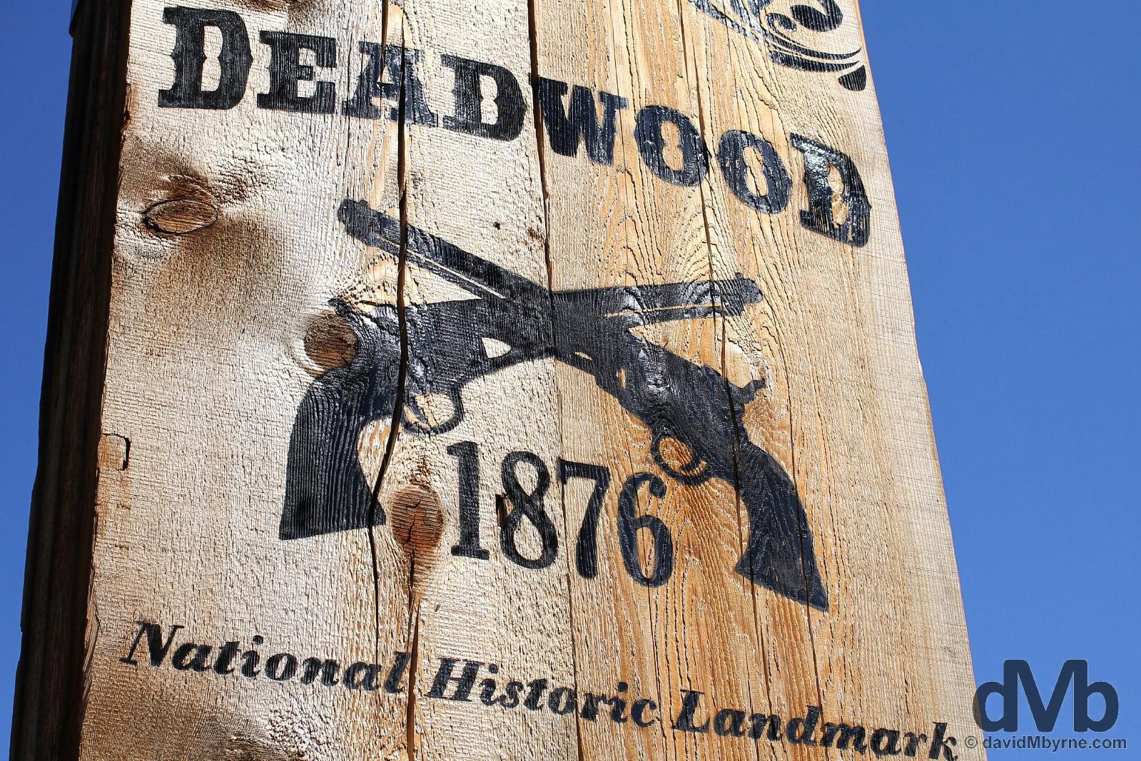 Deadwood, The Black Hills, South Dakota, USA. September 3, 2016.