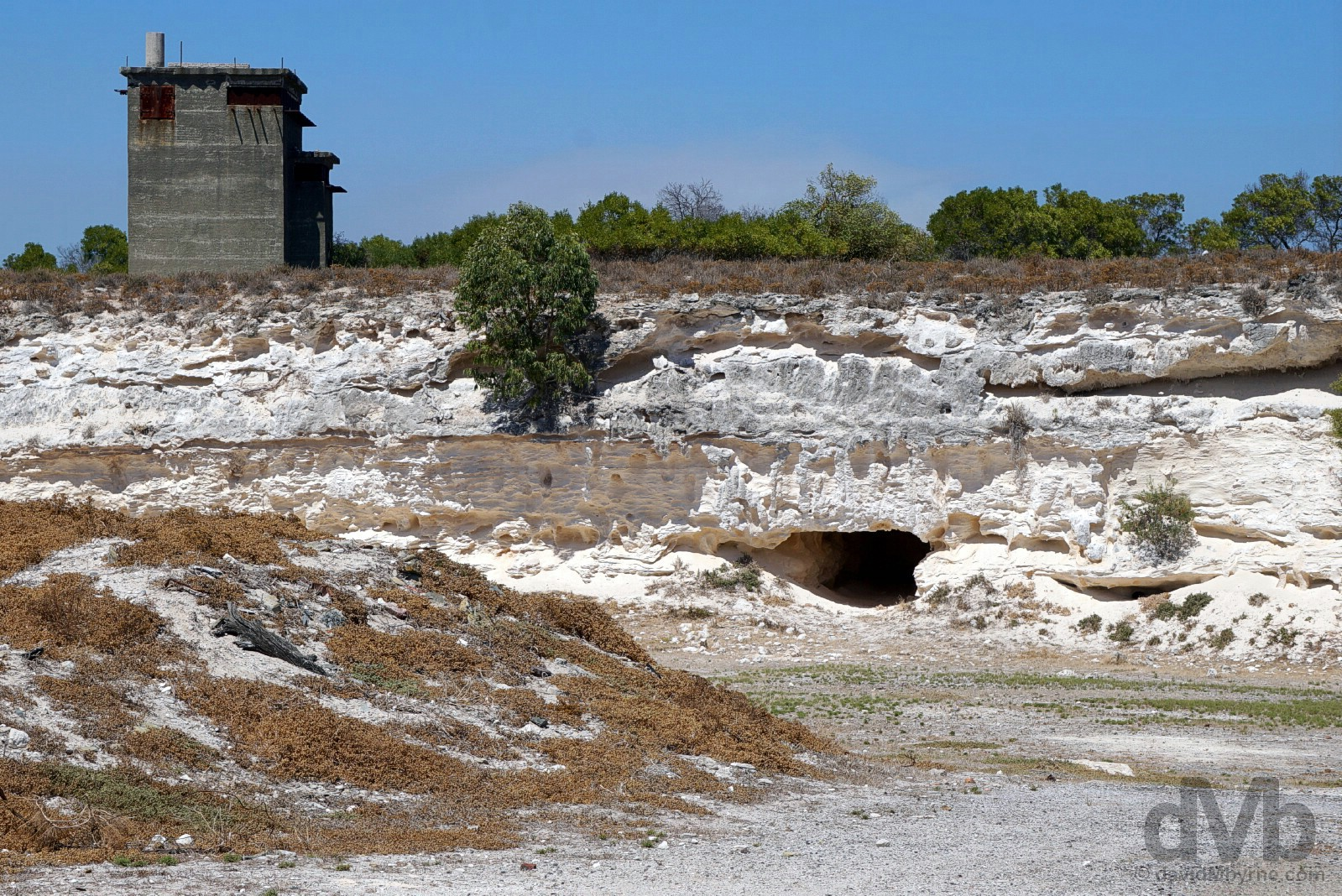 The Lime Quarry on Robben Island, Table Bay, Cape Town, Western Cape, South Africa. February 22, 2017.