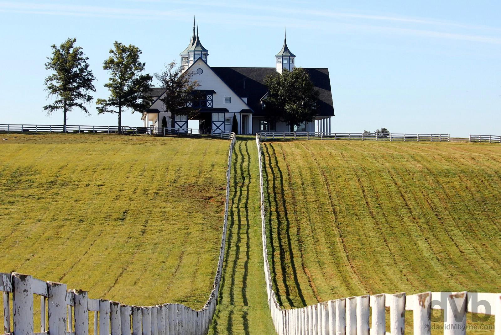 Manchester Farm as seen from Van Meter Road, Lexington, Kentucky. USA. September 27, 2016.