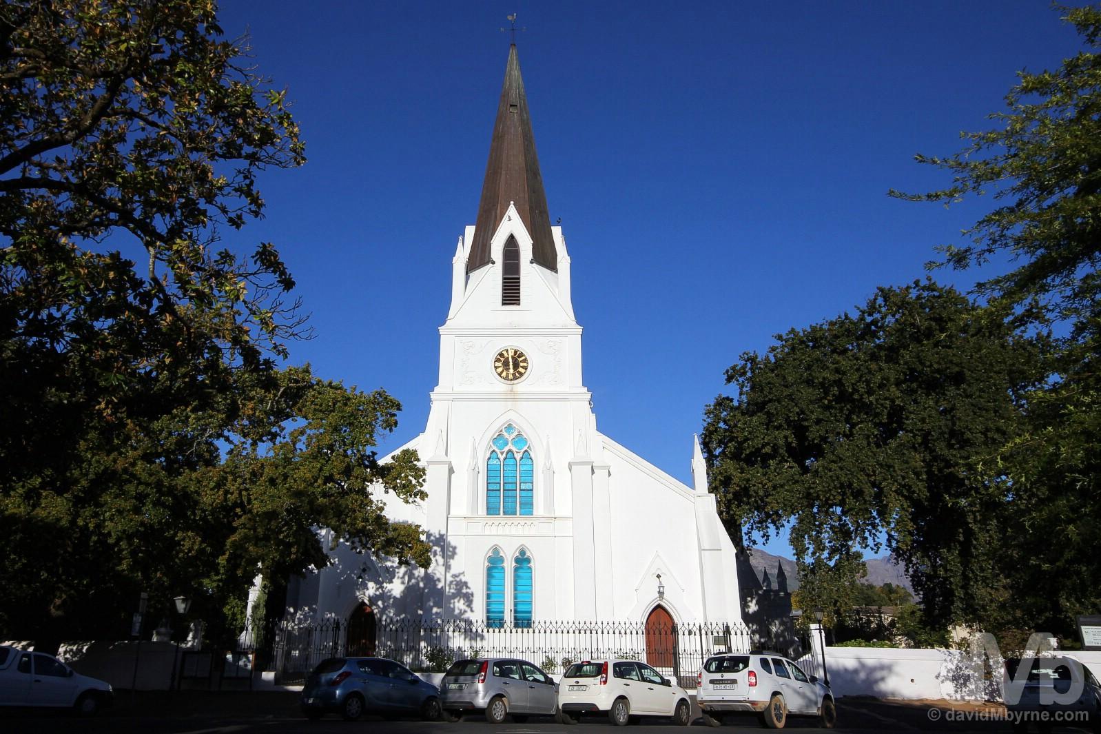 Moedergemeente, Drostdy Road, Stellenbosch, Western Cape, South Africa. February 18, 2017.