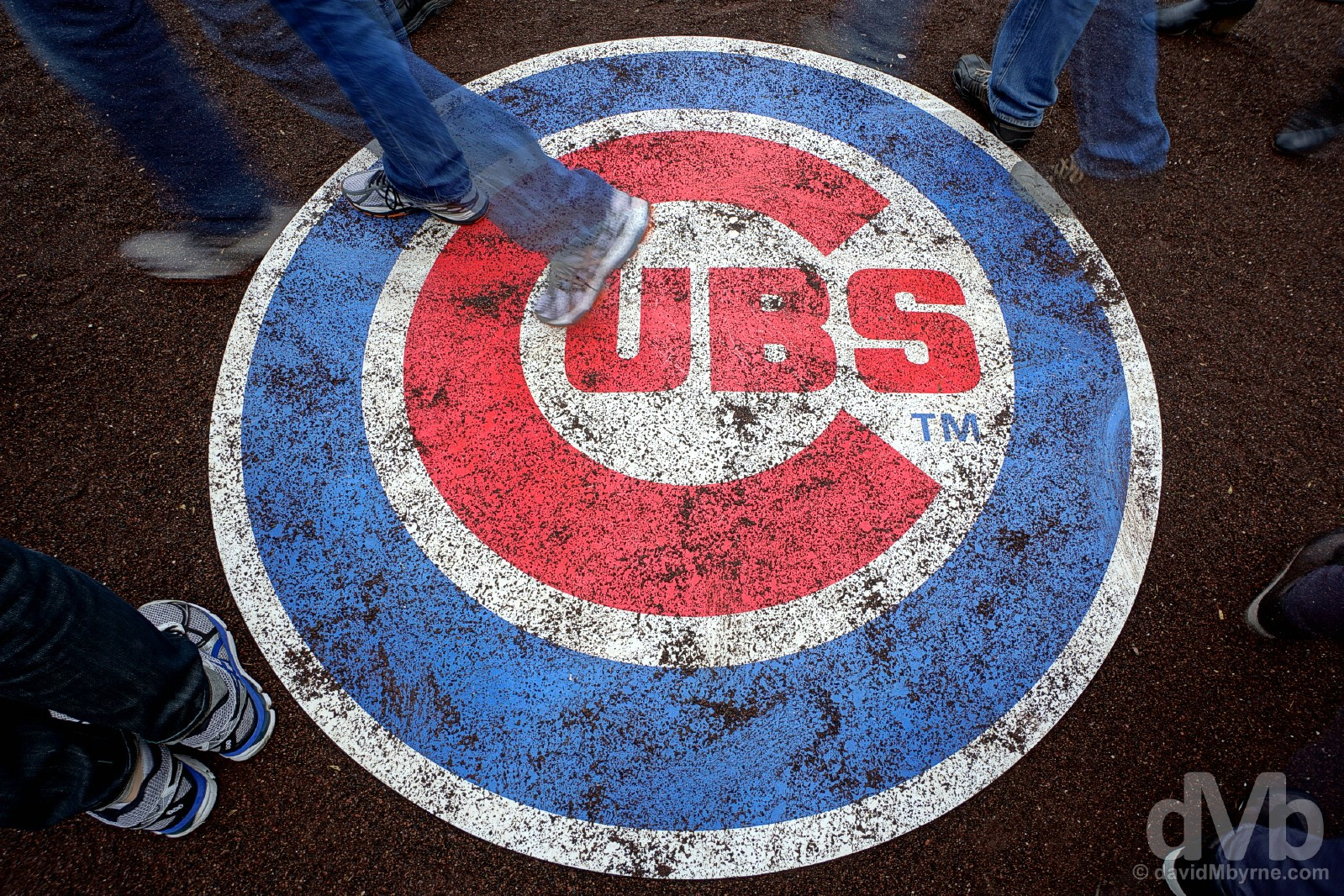 The on deck circle in Wrigley Field, the home of the Chicago Cubs. Wrigleyville, Chicago, Illinois, USA. October 1, 2016.
