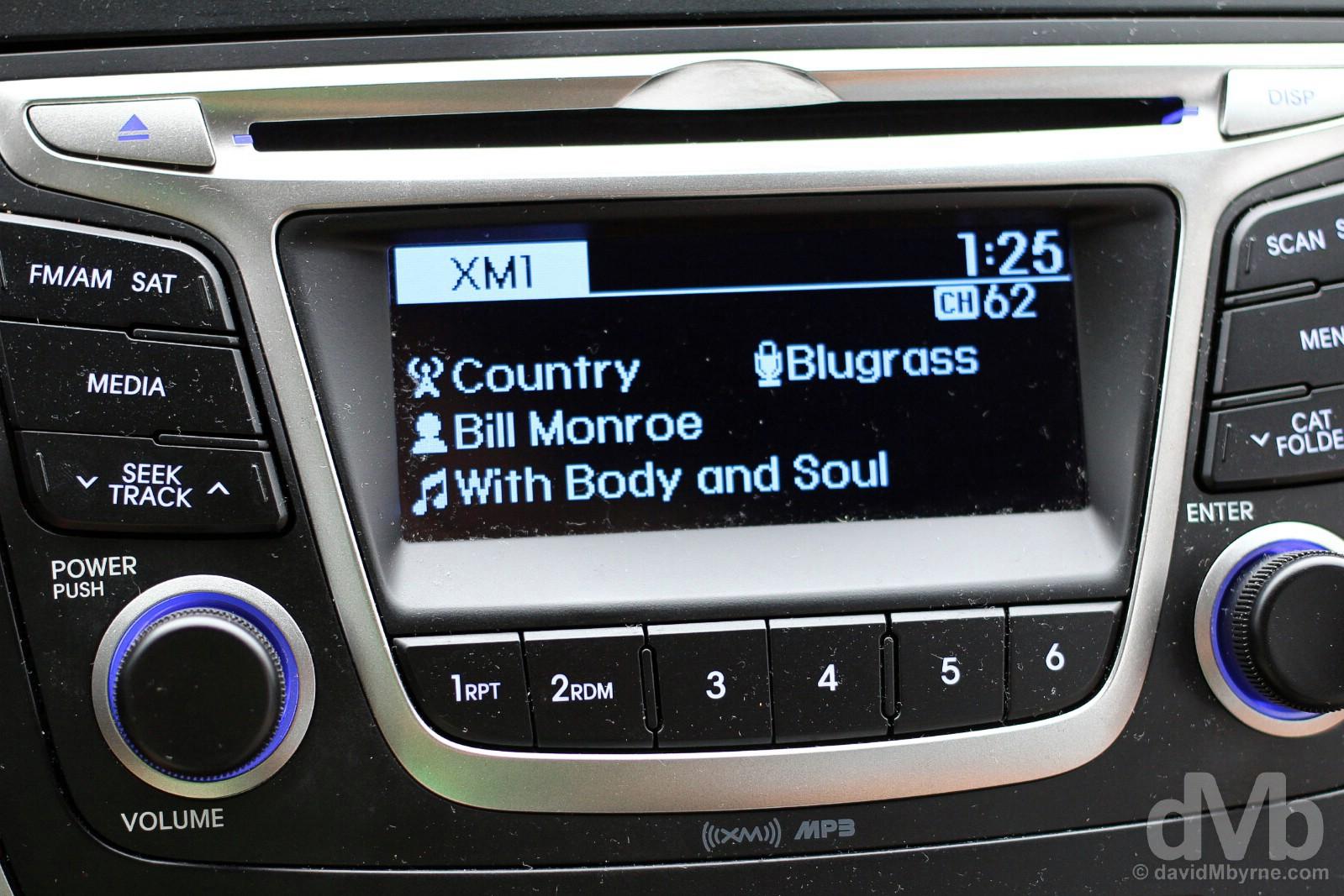 Bill Monroe on the radio in Rosine, Ohio County, Kentucky, USA. September 28, 2016.