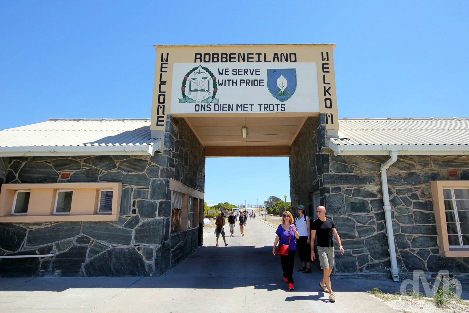 The entrance to Robben Island, Table Bay, Western Cape, South Africa. February 22, 2017.