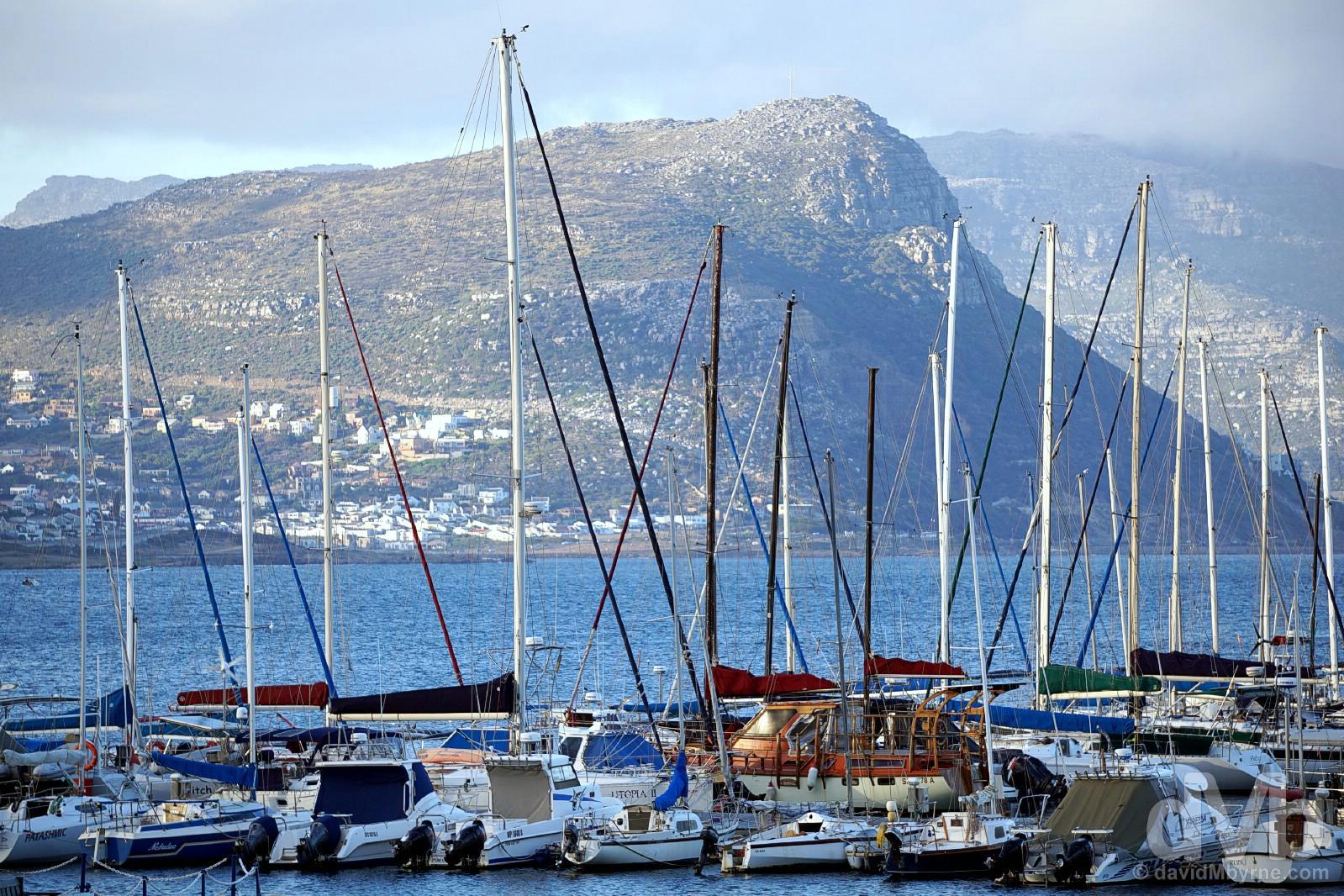 The marina of Simon's Town on False Bay, Cape Peninsula, Western Cape, South Africa. February 17, 2017.