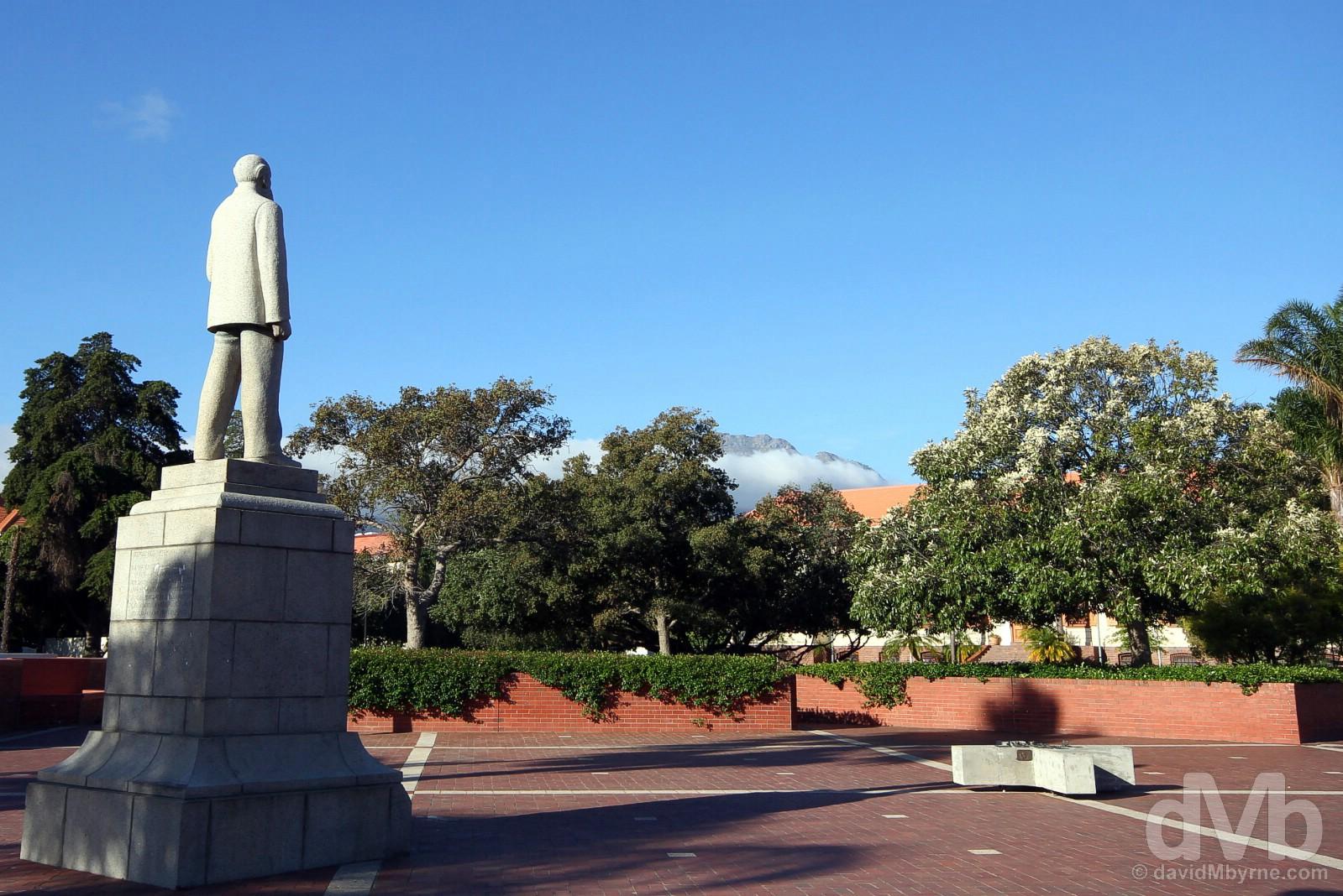 On the campus of Stellenbosch University, Stellenbosch, Western Cape, South Africa. February 18, 2017.