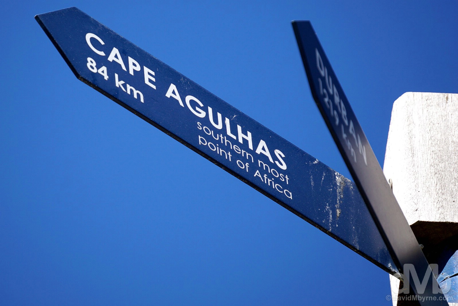 Cape Agulhas that way. Marine Drive, Hermanus, Overberg, Western Cape, South Africa. February 21, 2017.