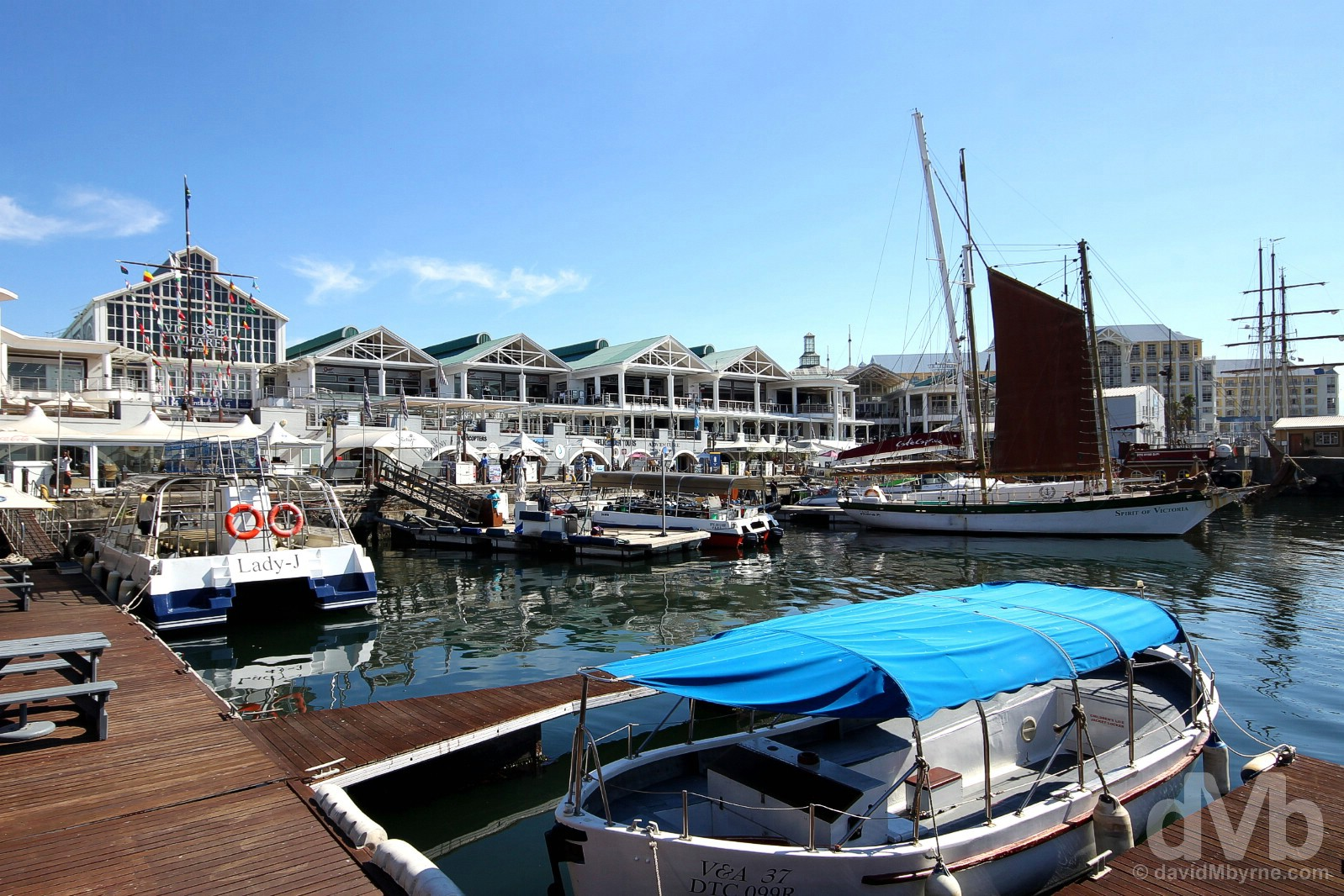 The V&A Waterfront, Cape Town, Western Cape, South Africa. February 22, 2017.