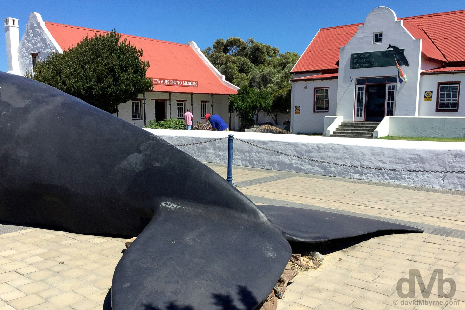 Outside the Whale House Museum off Village Square, Hermanus, Overberg, Western Cape, South Africa. February 21, 2017.