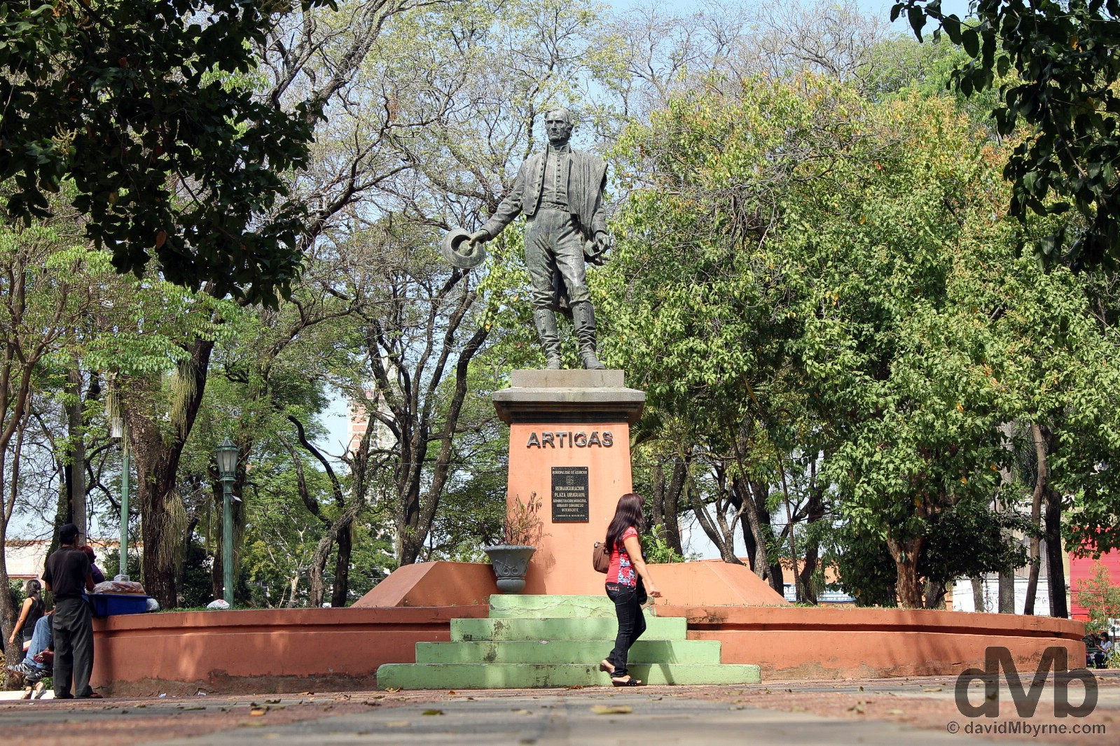 The Artigas statue Plaza Uruguaya, Asuncion, Paraguay. September 9, 2015.