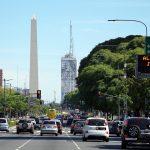 Av. 9 de Julio, Buenos Aires, Argentina. December 6, 2015.