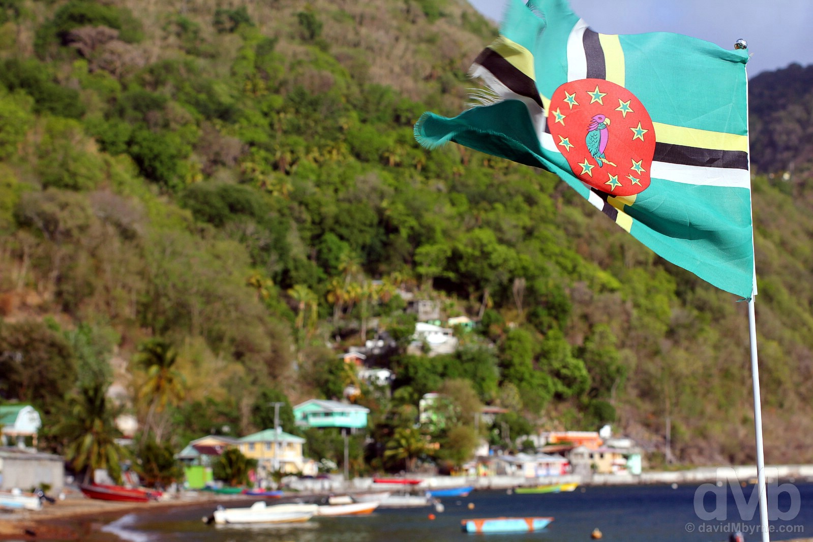 Bubble Beach, Soufriere, southern Dominica. June 11, 2015.