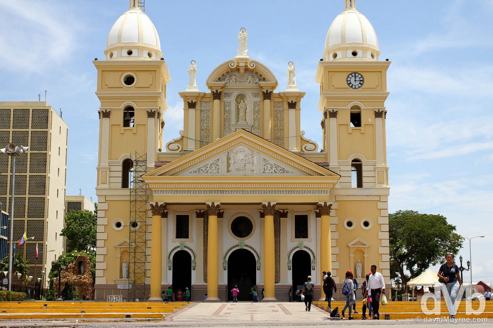Cathedral Lea Bermudez, Plaza Baralt, Maracaibo, Venezuela. June 22, 2015.