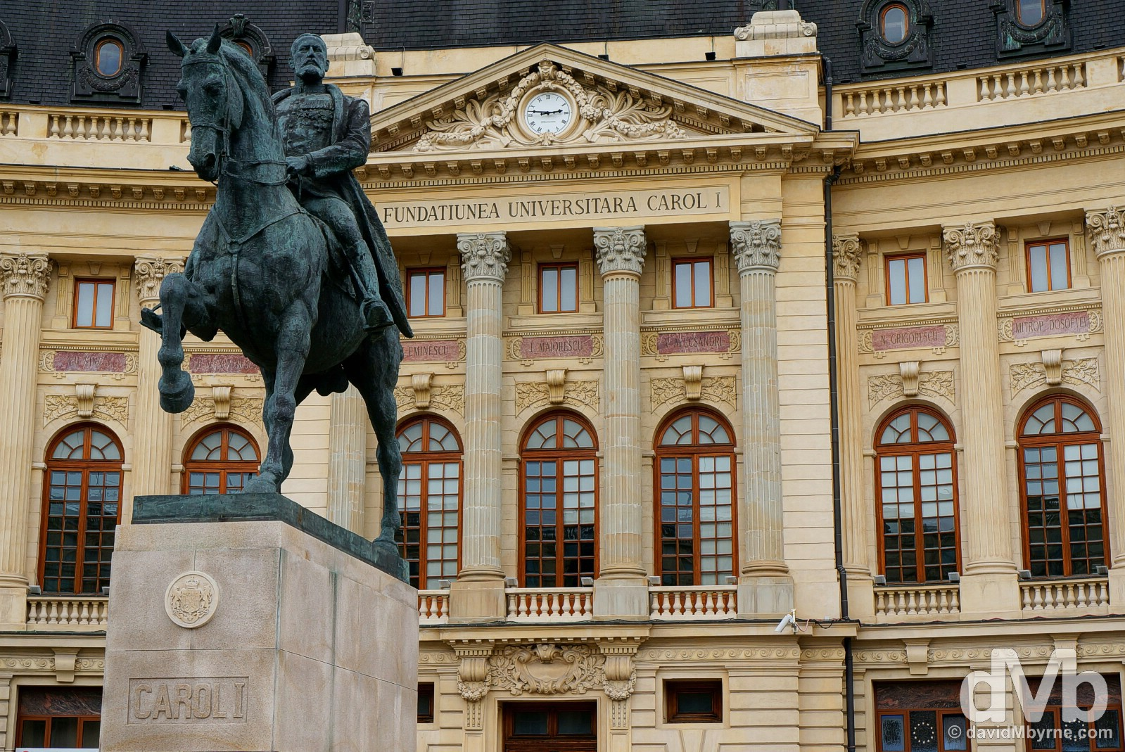 The Central University Library in Piata Revolutiei (Revolution Square), Bucharest, Romania. April 1, 2015.