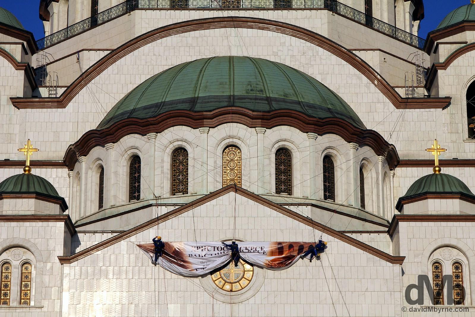 The Church of Saint Sava in Belgrade Serbia. April 3, 2015.