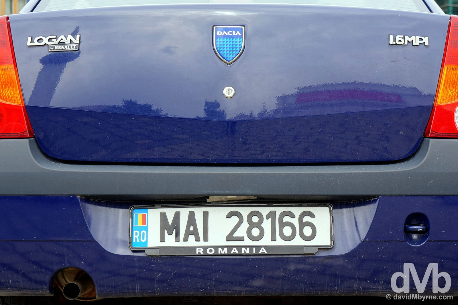 A Dacia on the streets of central Bucharest, Romania. April 1, 2015.
