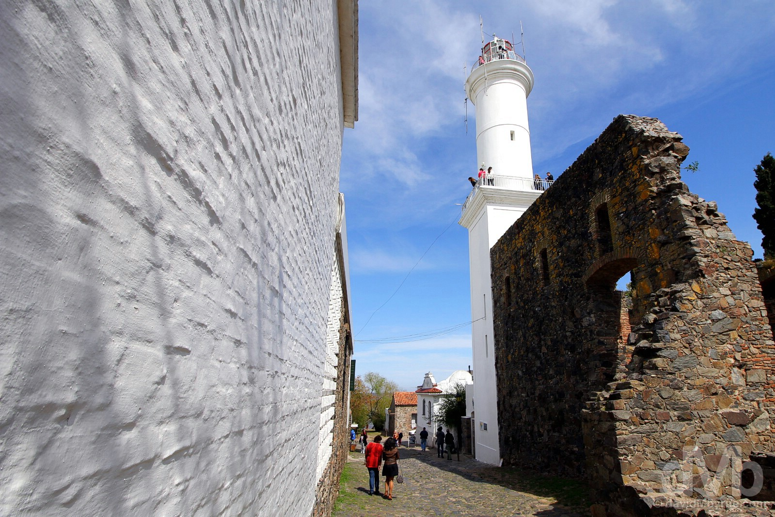Colonia del Sacramento Lighthouse as seen from de San Francisco, Colonia del Sacramento, Uruguay. September 20, 2015.