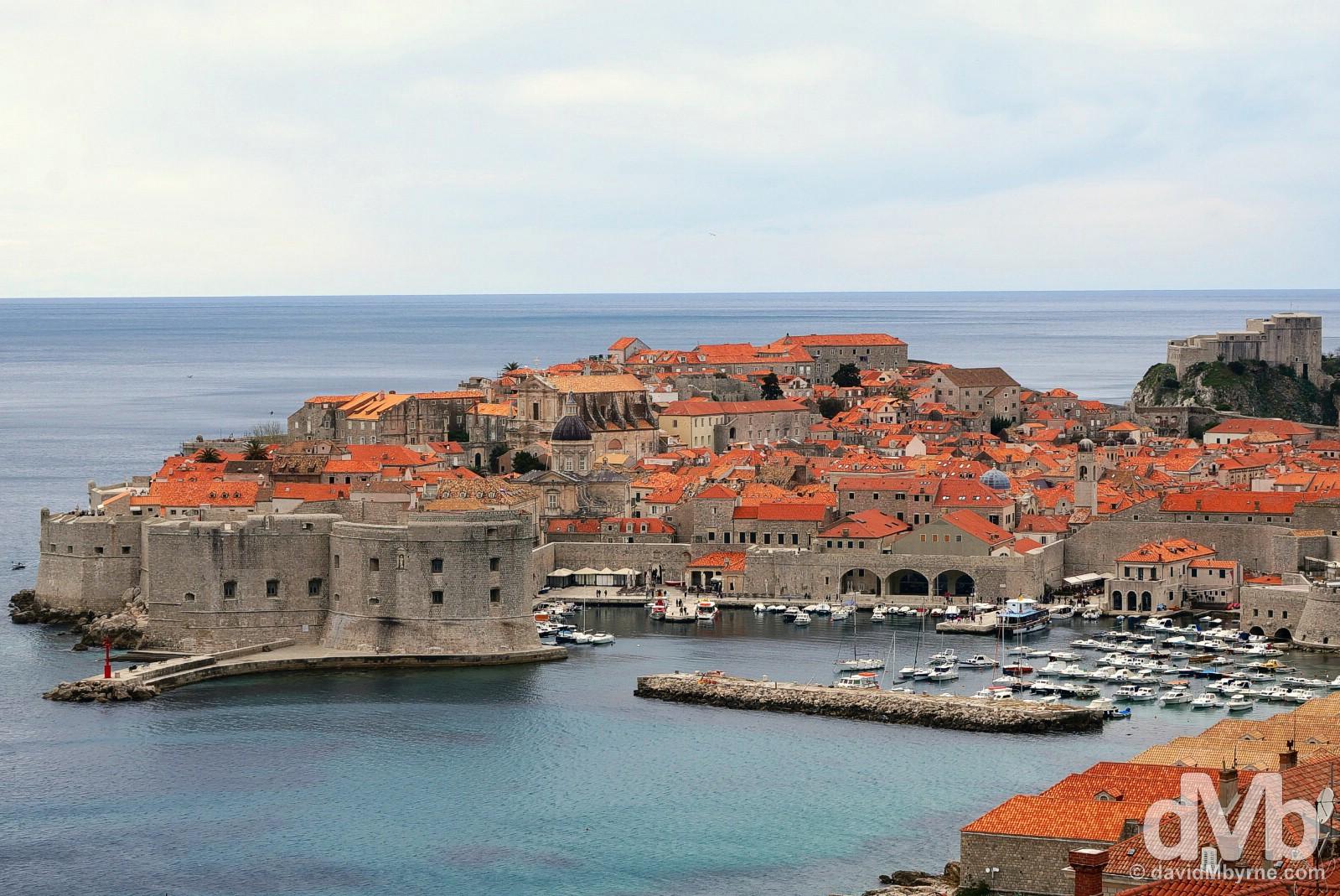 Old Town, Dubrovnik, Croatia. April 7, 2015.