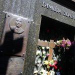 Familia Duarte, the final resting place of Eva Perón, aka Evita, La Recoleta Cemetery, Buenos Aires, Argentina. December 6, 2015.
