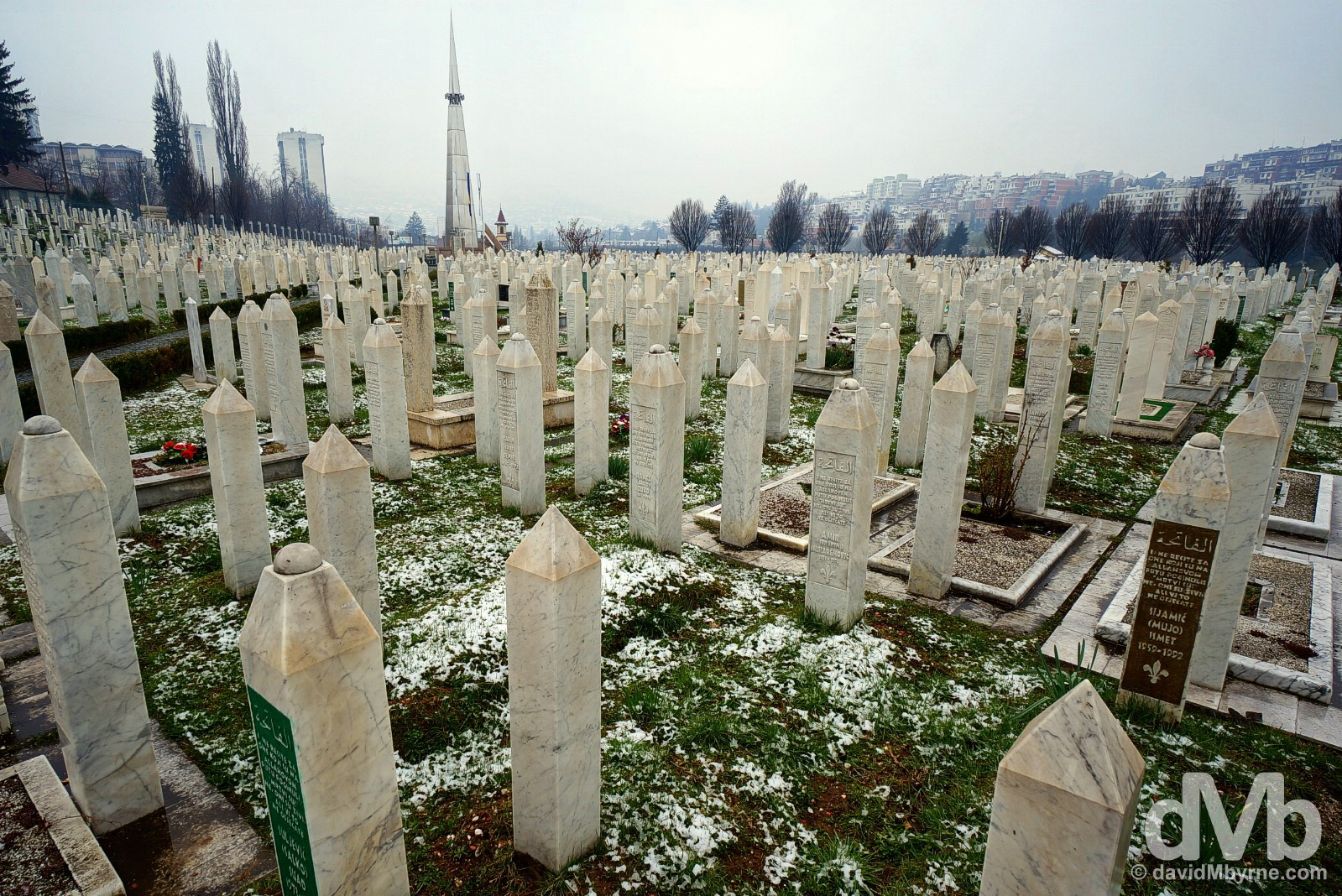 Gradsko groblje Bare cemetery, Sarajevo, Bosnia and Herzegovina. April 5, 2015.