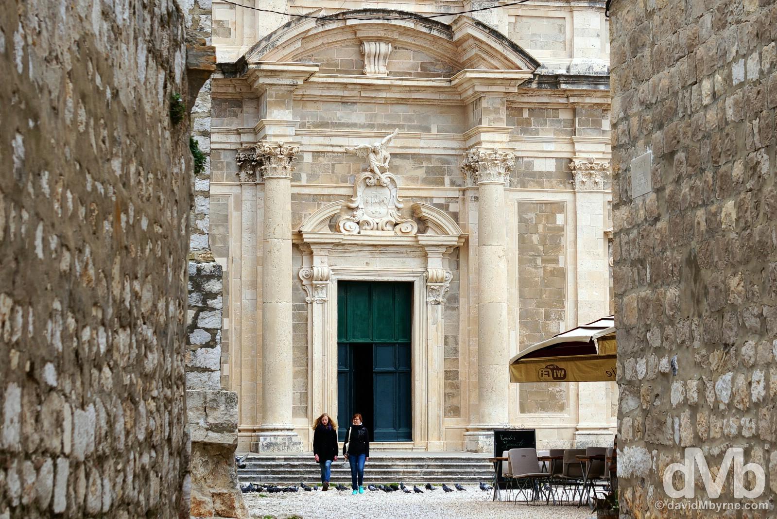 Jesuit Monastery, Old Town, Dubrovnik, Croatia. April 7, 2015.