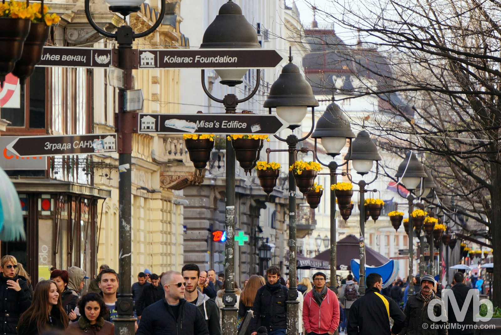 Knez Mihailova, Belgrade, Serbia. April 3, 2015.