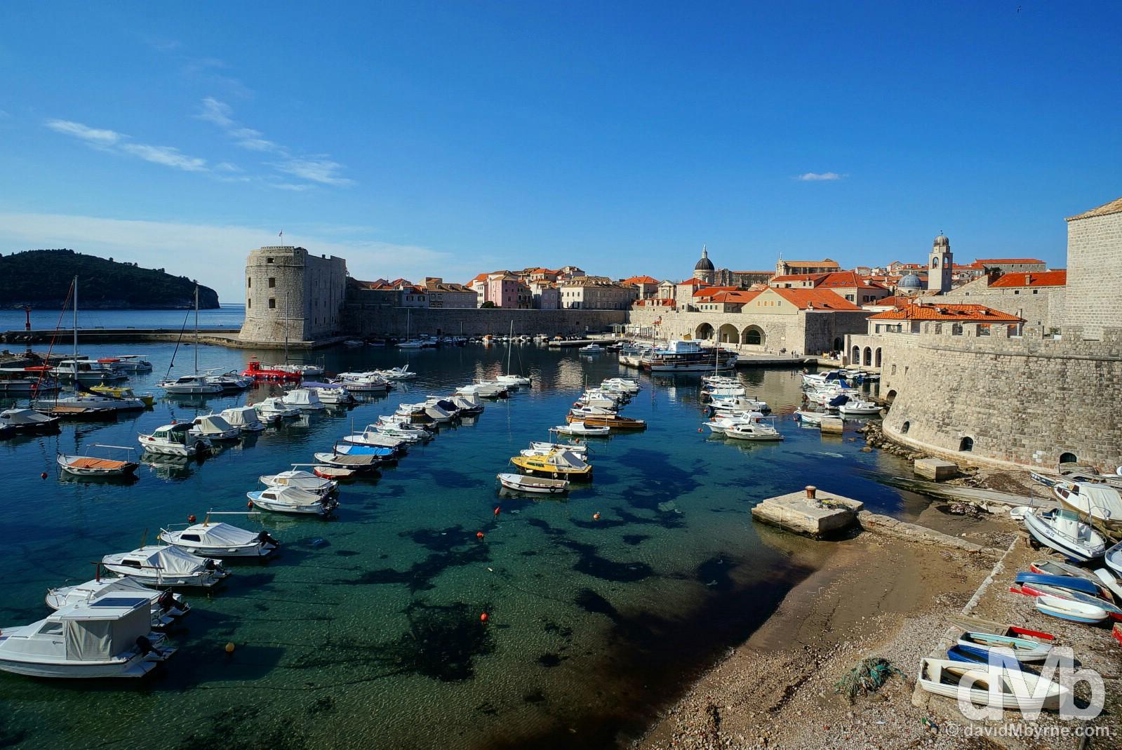 Old Harbour, Dubrovnik, Croatia. April 8, 2015.